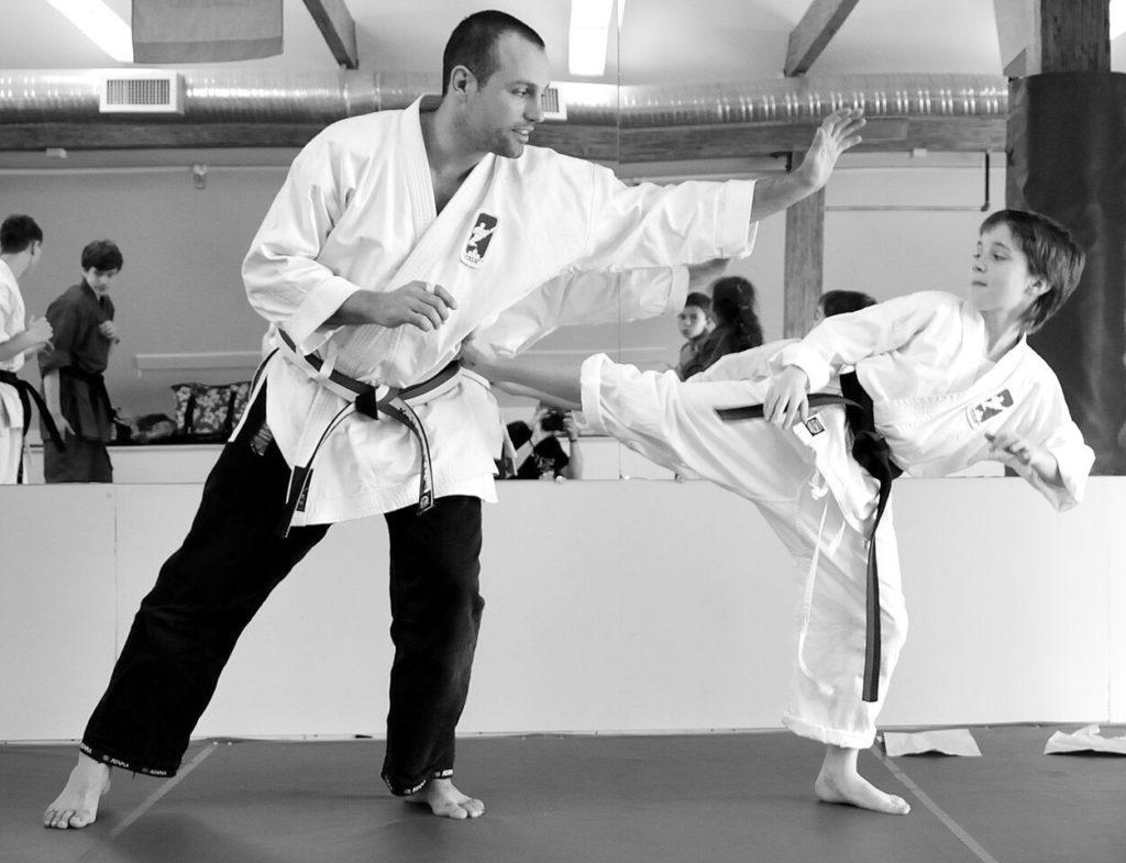 Sensei Leigh teaching Karate